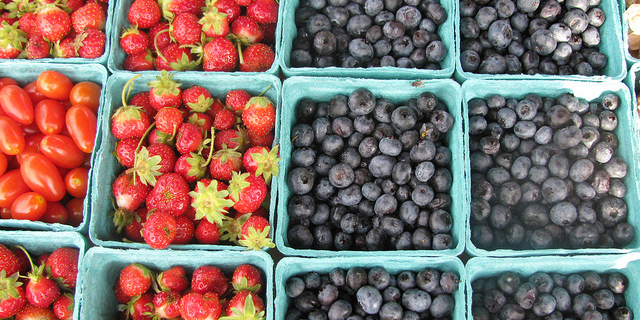 Find healthy berries grown locally at the canton farmers market
