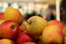 Apples tend to require heavy chemical use, so try to buy organic