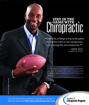 Jerry Rice credits chiropractic care for his success in football